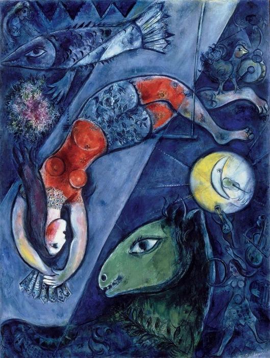 Chagall_Blaue Zirkus